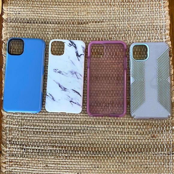 Iphone 11 pro max case bundle!!